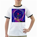 Enchanted Rose Stained Glass Ringer T-Shirts
