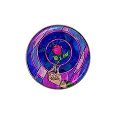 Enchanted Rose Stained Glass Hat Clip Ball Marker (4 Pack) by Onesevenart