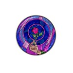 Enchanted Rose Stained Glass Hat Clip Ball Marker (4 pack)