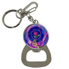 Enchanted Rose Stained Glass Bottle Opener Key Chains by Onesevenart