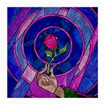 Enchanted Rose Stained Glass Medium Glasses Cloth