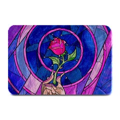 Enchanted Rose Stained Glass Plate Mats by Onesevenart