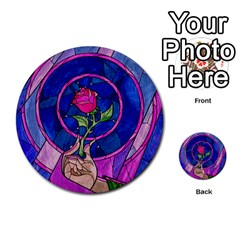 Enchanted Rose Stained Glass Multi Purpose Cards (round)  by Onesevenart