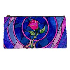 Enchanted Rose Stained Glass Pencil Cases by Onesevenart