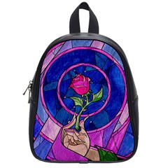 Enchanted Rose Stained Glass School Bags (small)  by Onesevenart