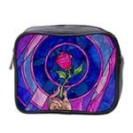 Enchanted Rose Stained Glass Mini Toiletries Bag 2-Side