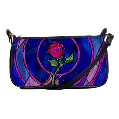 Enchanted Rose Stained Glass Shoulder Clutch Bags by Onesevenart