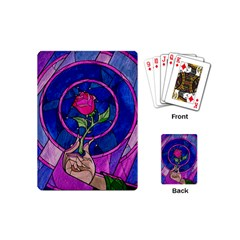 Enchanted Rose Stained Glass Playing Cards (mini)  by Onesevenart