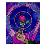 Enchanted Rose Stained Glass Shower Curtain 60  x 72  (Medium)