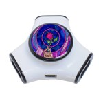 Enchanted Rose Stained Glass 3-Port USB Hub
