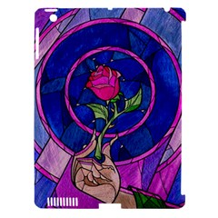 Enchanted Rose Stained Glass Apple Ipad 3/4 Hardshell Case (compatible With Smart Cover) by Onesevenart