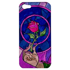 Enchanted Rose Stained Glass Apple Iphone 5 Hardshell Case by Onesevenart