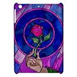Enchanted Rose Stained Glass Apple iPad Mini Hardshell Case