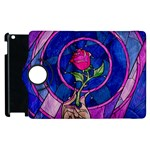 Enchanted Rose Stained Glass Apple iPad 3/4 Flip 360 Case