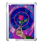 Enchanted Rose Stained Glass Apple iPad 3/4 Case (White)