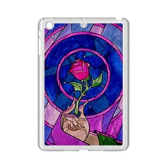 Enchanted Rose Stained Glass Ipad Mini 2 Enamel Coated Cases by Onesevenart