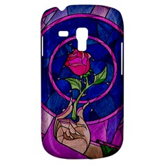 Enchanted Rose Stained Glass Samsung Galaxy S3 Mini I8190 Hardshell Case by Onesevenart