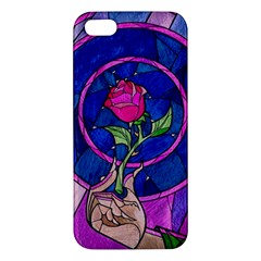 Enchanted Rose Stained Glass Apple Iphone 5 Premium Hardshell Case by Onesevenart