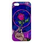 Enchanted Rose Stained Glass Apple iPhone 5 Premium Hardshell Case