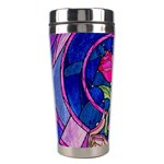 Enchanted Rose Stained Glass Stainless Steel Travel Tumblers