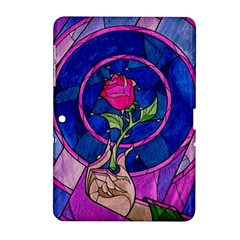 Enchanted Rose Stained Glass Samsung Galaxy Tab 2 (10 1 ) P5100 Hardshell Case  by Onesevenart