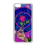 Enchanted Rose Stained Glass Apple iPhone 5C Seamless Case (White)