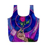 Enchanted Rose Stained Glass Full Print Recycle Bags (M)