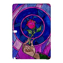 Enchanted Rose Stained Glass Samsung Galaxy Tab Pro 12 2 Hardshell Case by Onesevenart