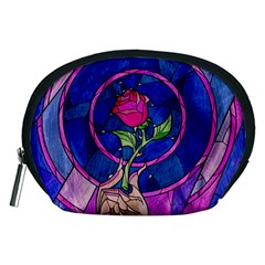 Enchanted Rose Stained Glass Accessory Pouches (medium)  by Onesevenart