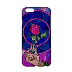 Enchanted Rose Stained Glass Apple Iphone 6/6s Hardshell Case by Onesevenart