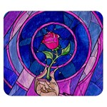 Enchanted Rose Stained Glass Double Sided Flano Blanket (Small)