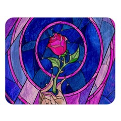 Enchanted Rose Stained Glass Double Sided Flano Blanket (large)  by Onesevenart