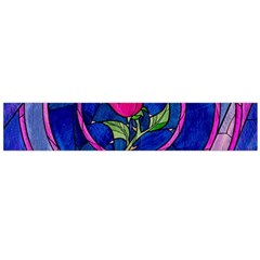 Enchanted Rose Stained Glass Flano Scarf (large) by Onesevenart
