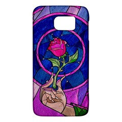 Enchanted Rose Stained Glass Galaxy S6 by Onesevenart