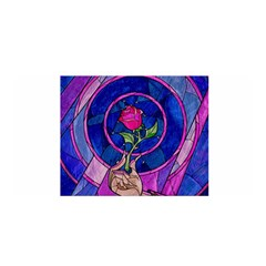 Enchanted Rose Stained Glass Satin Wrap by Onesevenart