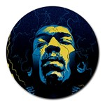 Gabz Jimi Hendrix Voodoo Child Poster Release From Dark Hall Mansion Round Mousepads