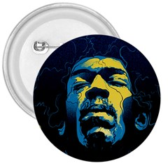 Gabz Jimi Hendrix Voodoo Child Poster Release From Dark Hall Mansion 3  Buttons by Onesevenart