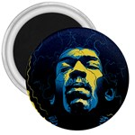 Gabz Jimi Hendrix Voodoo Child Poster Release From Dark Hall Mansion 3  Magnets