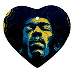Gabz Jimi Hendrix Voodoo Child Poster Release From Dark Hall Mansion Ornament (Heart)