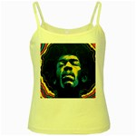 Gabz Jimi Hendrix Voodoo Child Poster Release From Dark Hall Mansion Yellow Spaghetti Tank