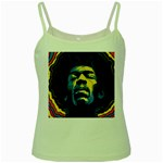 Gabz Jimi Hendrix Voodoo Child Poster Release From Dark Hall Mansion Green Spaghetti Tank