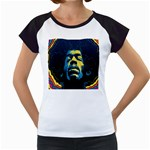 Gabz Jimi Hendrix Voodoo Child Poster Release From Dark Hall Mansion Women s Cap Sleeve T