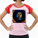 Gabz Jimi Hendrix Voodoo Child Poster Release From Dark Hall Mansion Women s Cap Sleeve T-Shirt