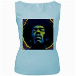 Gabz Jimi Hendrix Voodoo Child Poster Release From Dark Hall Mansion Women s Baby Blue Tank Top