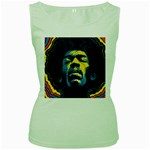 Gabz Jimi Hendrix Voodoo Child Poster Release From Dark Hall Mansion Women s Green Tank Top