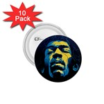 Gabz Jimi Hendrix Voodoo Child Poster Release From Dark Hall Mansion 1.75  Buttons (10 pack)