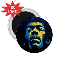 Gabz Jimi Hendrix Voodoo Child Poster Release From Dark Hall Mansion 2 25  Magnets (100 Pack)  by Onesevenart