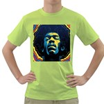 Gabz Jimi Hendrix Voodoo Child Poster Release From Dark Hall Mansion Green T-Shirt