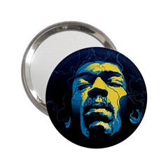 Gabz Jimi Hendrix Voodoo Child Poster Release From Dark Hall Mansion 2 25  Handbag Mirrors by Onesevenart