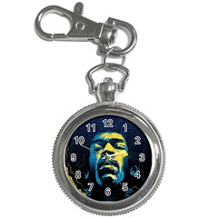 Gabz Jimi Hendrix Voodoo Child Poster Release From Dark Hall Mansion Key Chain Watches by Onesevenart